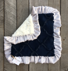 Rockin Royalty Navy Baby Cuddle Lovie Blanket