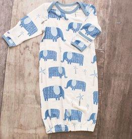 Bestaroo Blue Elephant Gown, 0/3M