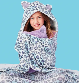 iscream Snow Leopard Plush Blanket 56 x 60