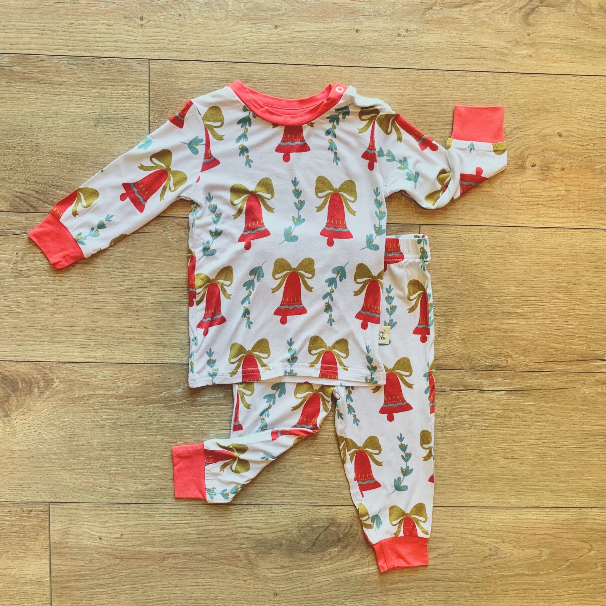 Kozi & Co Bells & Mistletoe Pajama Set