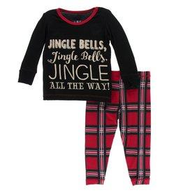 Kickee Pants LS PJ Set Jingle Bells