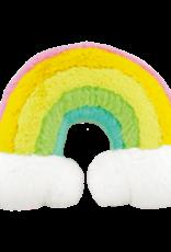 iscream Rainbow Furry Fiber Filled Pillow