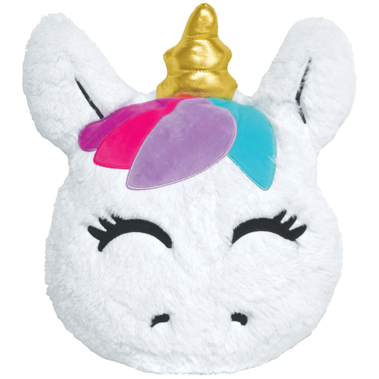 iscream Goldie Unicorn Furry Embroidered Vanilla Scented Pillow
