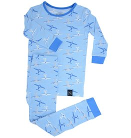 Sweet Bamboo Big Kid Pj Set Airplanes