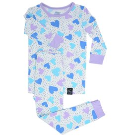 Sweet Bamboo Big Kid Pj Set Dot Hearts
