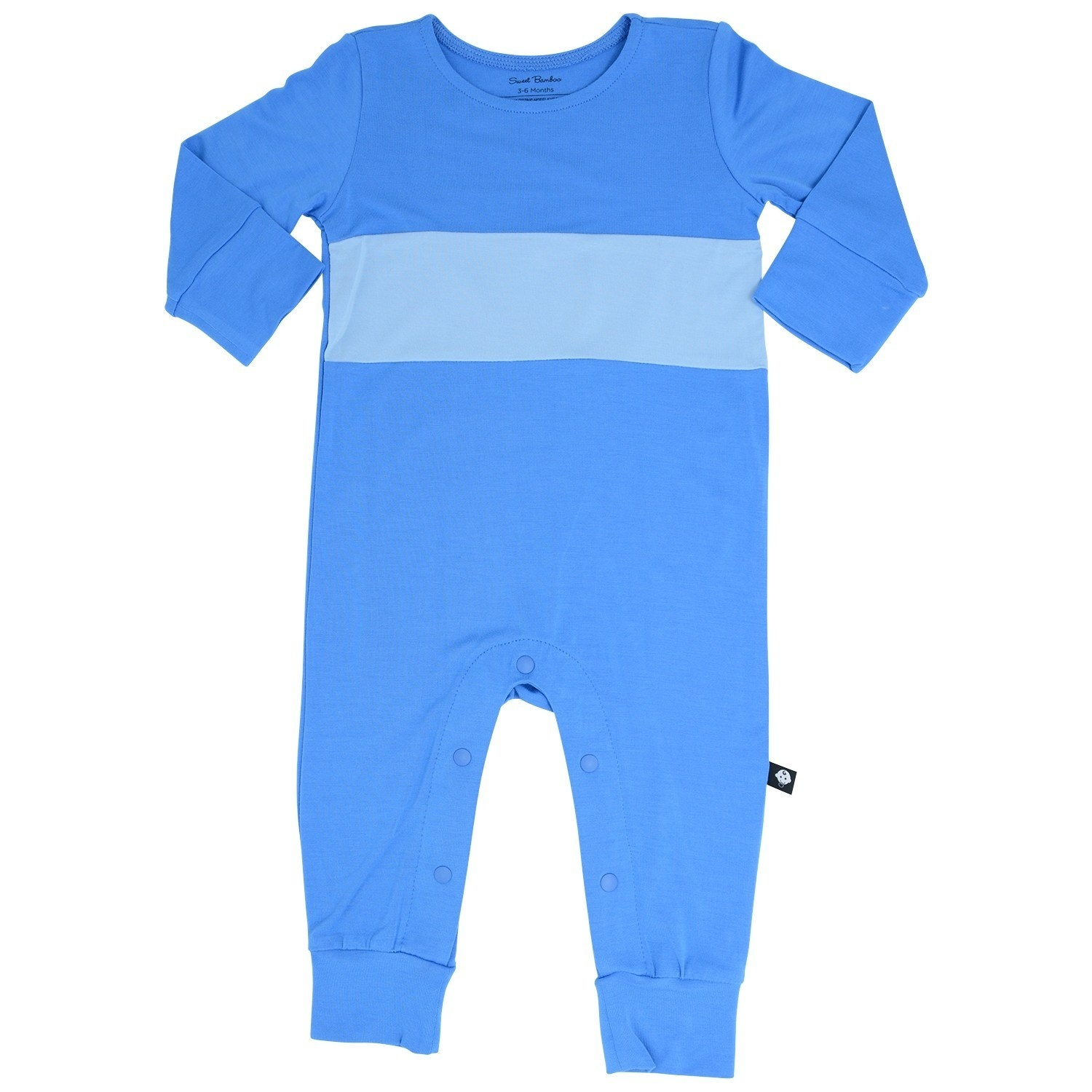 Sweet Bamboo Banded Romper Bright & Light Blue