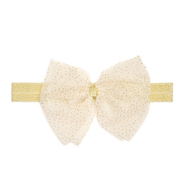 Sweet Wink Ivory Bow Soft Headband