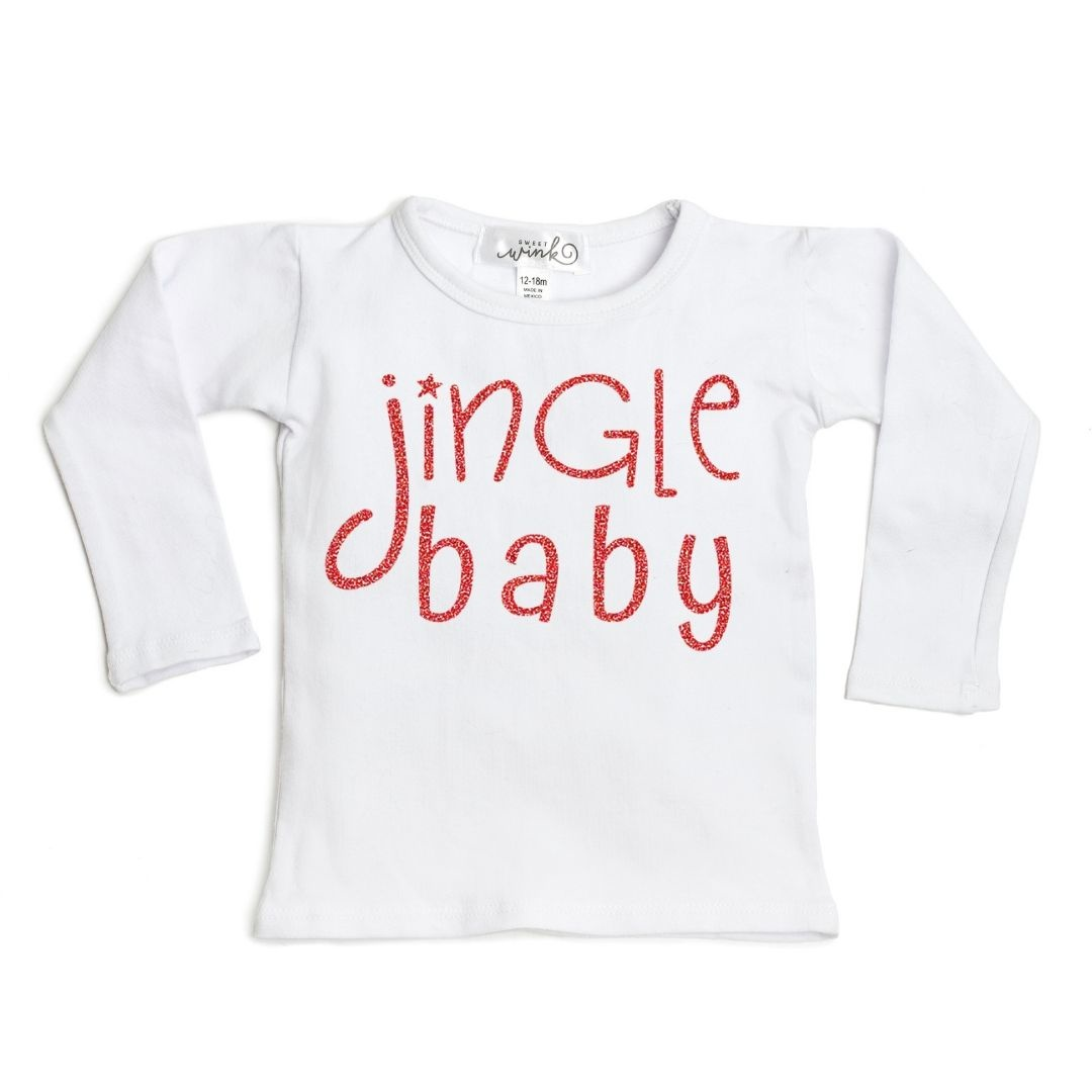 Sweet Wink Jingle Baby LS Shirt White (Girl)