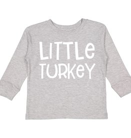 Sweet Wink Little Turkey LS Bodysuit (Boy) Gray