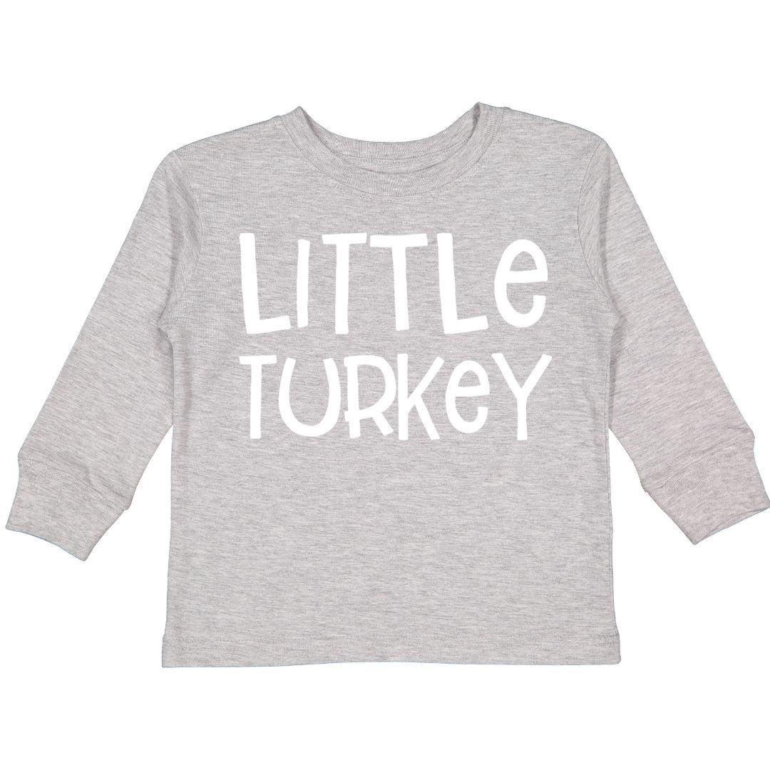 Sweet Wink Little Turkey LS Bodysuit (Boy) Gray