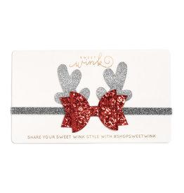 Sweet Wink Reindeer Soft Headband Silver