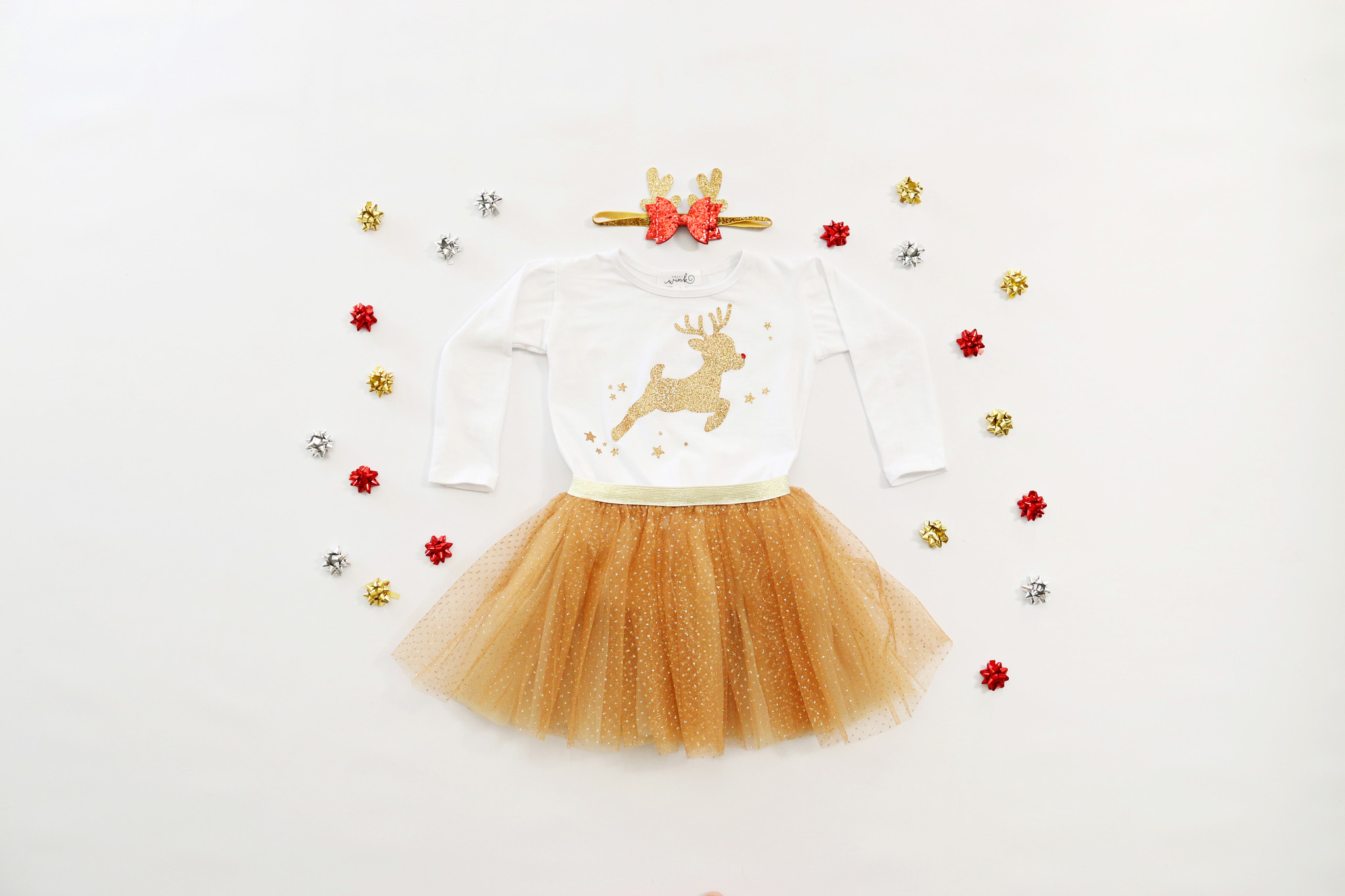 Sweet Wink Reindeer Soft Headband Gold