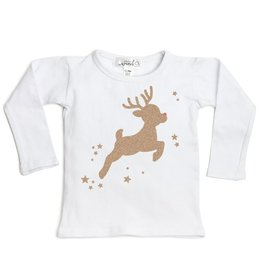 Sweet Wink Rudolph Reindeer LS Shirt White (Girl)