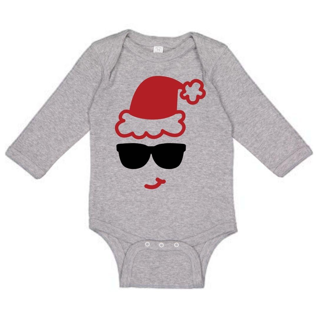 Sweet Wink Santa Sunglasses LS Bodysuit Gray