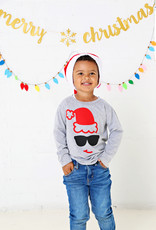 Sweet Wink Santa Sunglasses LS Shirt Gray