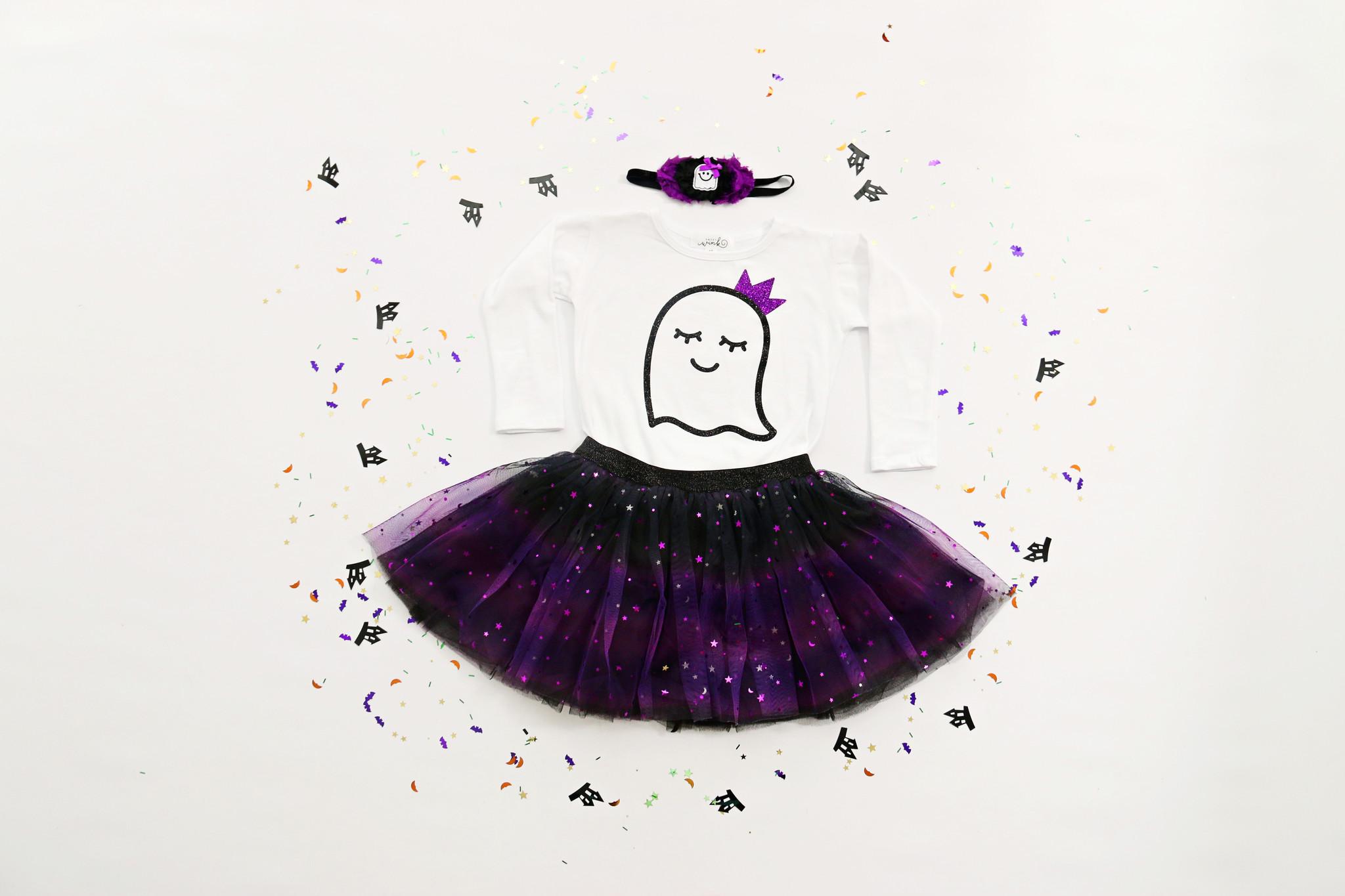 Sweet Wink Halloween Ombre Tutu Black/Purple