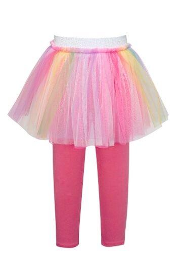 Truly Me Pink Multi Rainbow Mesh Skeggings