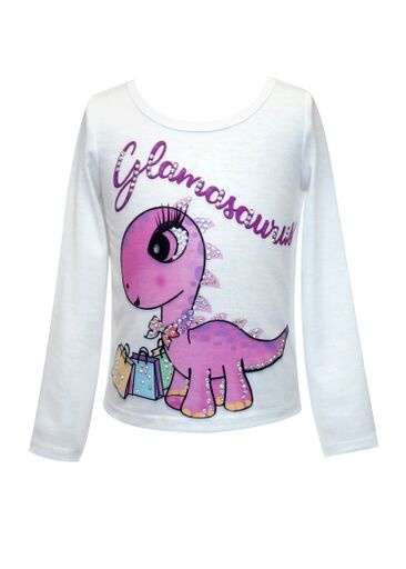 Truly Me White Glamasaurus Print Top