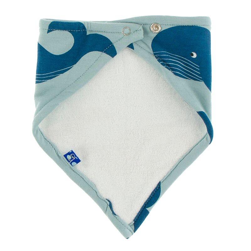 Kickee Pants Bandana Bib Jade Whales