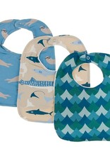 Kickee Pants Bib Set (Blue Moon Otter/Burlap Sharks/Ivy Whales)