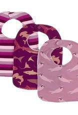 Kickee Pants Bib Set (Coral Stripe/Melody Sharks/Pegasus Otter)