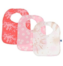 Kickee Pants Bib Set (English Rose Dragon/Lotus Sand Dollar/Natural Garden)