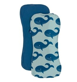 Kickee Pants Burp Cloth Set (Twilight/Jade Whales)