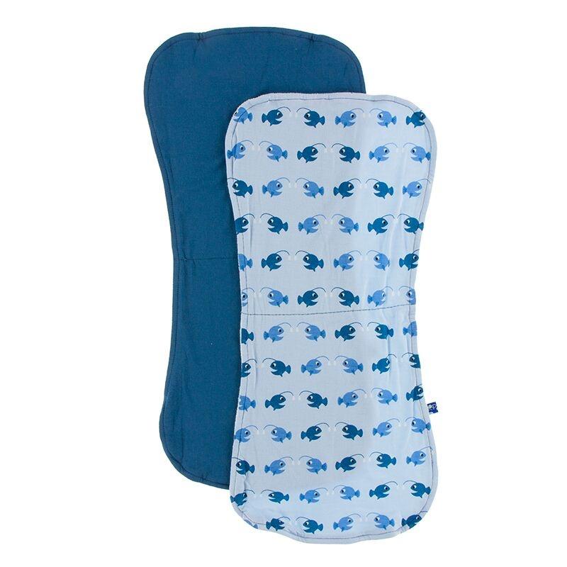 Kickee Pants Burp Cloth Set (Twilight/Pond Angler Fish)