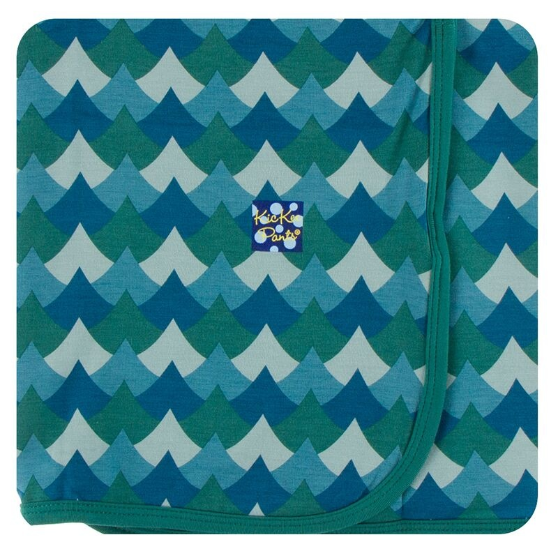 Kickee Pants Swaddling Blanket Ivy Waves