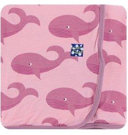 Kickee Pants Swaddling Blanket Lotus Whales