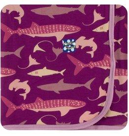 Kickee Pants Swaddling Blanket Melody Sharks