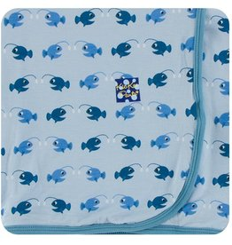 Kickee Pants Swaddling Blanket Pond Angler Fish