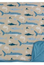 Kickee Pants Toddler Blanket Burlap Sharks