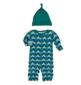 Kickee Pants Gown Converter & Hat Set Ivy Waves