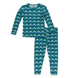 Kickee Pants LS Pajama Set Ivy Waves