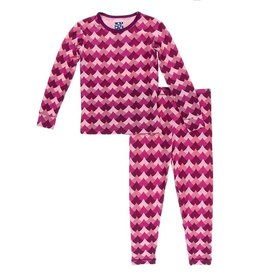 Kickee Pants LS Pajama Set Melody Waves