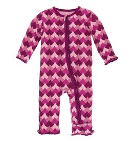 Kickee Pants Muff. Ruff. Zip Coverall Melody Waves