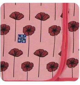 Kickee Pants Swaddling Blanket Strawberry Poppies