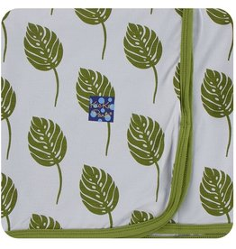 Kickee Pants Swaddling Blanket Dew Philodendron