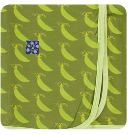 Kickee Pants Swaddling Blanket Grasshopper Sweet Peas