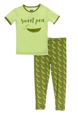 Kickee Pants SS Pajama Set Grasshopper Sweet Peas