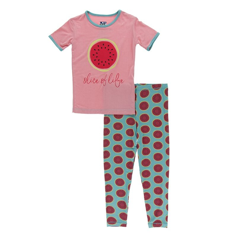 Kickee Pants SS Pajama Set Neptune Watermelon