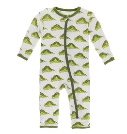 Kickee Pants Coverall w/ Zipper Natural Caterpillars