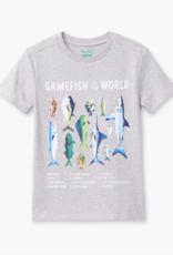 Hatley Game Fish Graphic Tee Grey Melange