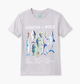 Hatley Game Fish Graphic Tee Grey Melange