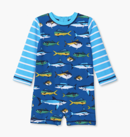 Hatley Game Fish One Piece Rashguard Swimsuit