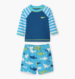 Hatley Great White Shark Rashguard Swim Set