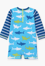 Hatley Great White Sharks Baby Rashguard Swimsuit