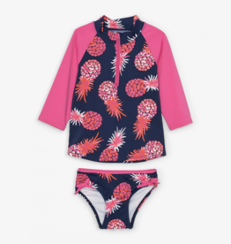 Hatley Party Pineapples Rashguard Swimsuit Set
