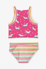 Hatley Prancing Unicorns Tankini Swim Set